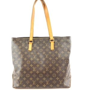 Cabas Mezzo Brown Monogram Canvas Shoulder Bag